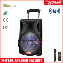 "12"" pulgadas de altavoces activo de plástico con batería recargable de Karaoke NFC"