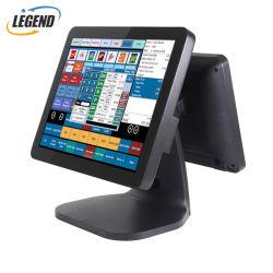 """A fábrica de hardware POS Windows 10 POS solução 15"""" +12"""" Dual Display em um só sistema Epos"""