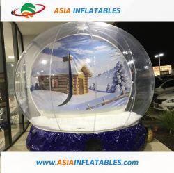 Cristal de Natal inflável grande globo de neve para o Natal
