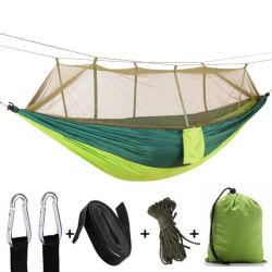 خفة الوزن النايلون المحمول Camping Hammock Mosquito Net مقاومة للرياح في الهواء الطلق، مقاومة للناموس، سوينغ مهامج للنوم Esg13012