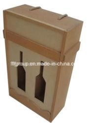 Paulownia personnalisé écologique en bois de pin avec différents de finition des emballages de vin