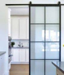 تصميم حديث أبواب داخلية أبواب خزانة منزلقة أبواب خشبية لون الباب