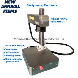 プラスチックまたはMetal/PCB/Bottleのための小型20W飛行のファイバーレーザーのマーキング機械レーザーのマーカーレーザーの彫刻家レーザーの彫版装置のラベルのロゴの印字機