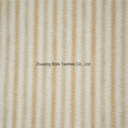 El algodón de color natural de tela a rayas de color/Doble Capa de algodón o paño de algodón 100% tejido de punto