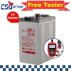 Csbattery 2V500ah Genuine-Materials solaire Batterie longue durée pour les voitures de golf de Sunny/moteur/excavateurs/VS : Leoch/Ritar/Amy