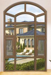Европейского и американского стиля алюминиевая дверная рама перемещена/неподвижное стекло в форме арки