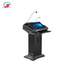 Регулируемый Китая подвижной электронную кафедре цифровой мультимедийной подиума сенсорный экран трибуной для совещания Конференции и преподавательской