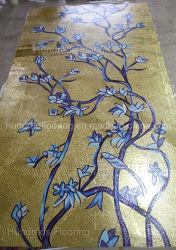 Künstlerische Musivgold-Mosaik-Fliese für Wand-Dekoration (HMP801)