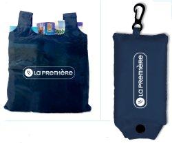 Faltbare Einkaufstasche des fördernden Polyester-190t mit kundenspezifischem Firmenzeichen