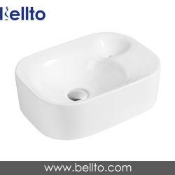 Un design moderne blanc en porcelaine Bellto contre-haut pour salle de bains Rectangle bol (3238)