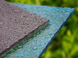 Goutte de pluie de couleur en polycarbonate PC Feuille gaufré