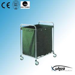 Carrinho de roupas hospitalares de aço inoxidável com saco de lona (J-6)