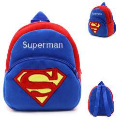 Logo personalizzato Superman 3D Design materiale morbido asilo Anti-Lost Leash Zaino da scuola Plush - Bambini