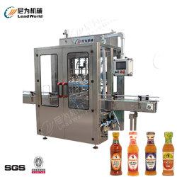 Sauce au piment automatique de l'ail coller la sauce chili sauce au poivre pâte liquide de bourrage de remplissage et de l'étiquette de la machine d'étanchéité Jar Machine