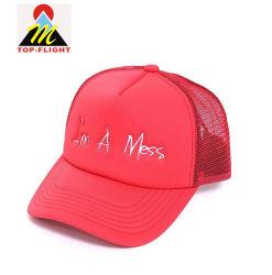 100% полиэстер Джерси Custom вышивкой из пеноматериала Red Hat Trucker ячеистой сети