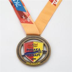 競争によってカスタマイズされるスポーツの柔らかいエナメルの金属のトロフィの円形浮彫り