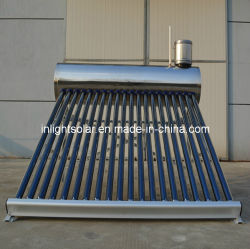 acier inoxydable sans pression chauffe-eau solaire intégré