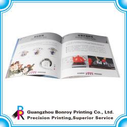 Conception personnalisée coloré catalogue imprimé avec piqûre à cheval (BR-Book-07)