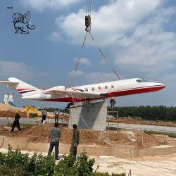 맞춤형 대형 야외 장식 현대 미술 금속 비행기 조각 동상 모델
