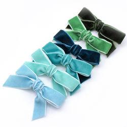 아이를 위한 신식 한국 우단 나비 넥타이 클립 활 머리핀 Handmade Bow-Knot 동곳 Headwear