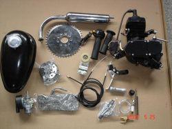 48cc 자전거 엔진 장비 DIY에 의하여 자동화되는 자전거를 위한 2개의 치기 가스 기관 모터 장비 까만 페인트 가스 모터 장비