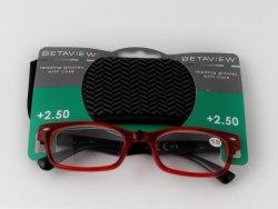 Colgador gafas Tarjeta para estantería mostrando con una bolsa de tela