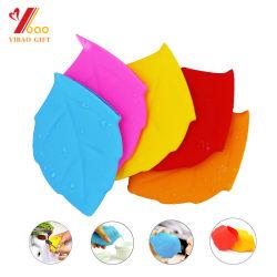Commerce de gros en forme de feuille de silicone Portable Pocket cup, coupe de pliage de silicone
