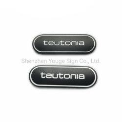 Овал Логотипа рельефным металлическую пластину алюминиевых подписать