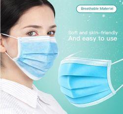 짠것이 아닌 녹 불어진 직물 처분할 수 있는 마스크 입 덮개 가면 덮개가 매일 보호 먼지에 의하여 3개 가닥 주름을 잡았다
