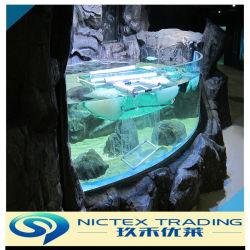 China Fornecedor de fábrica personalizada de 10mm a 200mm acrílico de tamanho grande tanque de peixes de aquário de acrílico