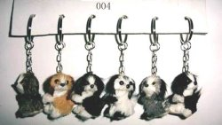 Les chaînes de clés d'animaux à fourrure (004)