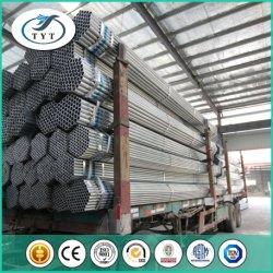 Galvanisierte 3 Zoll Q235 runde Gefäß-gerade Stahlnaht geschweißtes Gefäß galvanisiertes Rohr-Pferden-Zaun-Panel