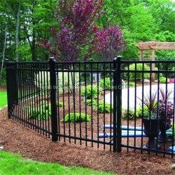 Manufacturer専門のSupply Securityの庭Wrought Iron GateおよびFence、Swimming Pool Fence、Cheap Wrought Iron Fence New Design