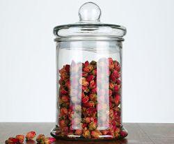 Armazenagem de géneros alimentícios contentores doces em vidro Copo de vidro transparente Recipientes com tampa hermética