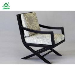 Eiken Hout Dining Room Furniture Moderne Armstoelen Met Cream Fabric Stoffering