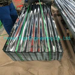 正常な亜鉛熱いすくいの白い波形の屋根ふきによって電流を通される薄い鉄板