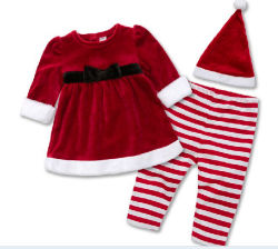 Nuevo bebé lindo traje de Navidad