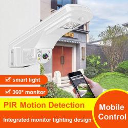 2020 beste 2MP kabeltelevisie Surveillance Mini Dome Camera van HD 5X Zoom IRL Night Vision 4G Wireless PTZ Integrated Street Light Waterproof