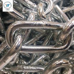 전기 아연 도금 DIN763 유형 롱 링크 체인 대형 사이즈