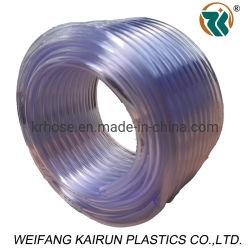 Flexibilidad de la calidad alimentaria de un solo nivel de agua de plástico transparente de PVC transparente de PVC tubo flexible