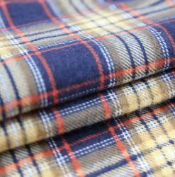 100% coton Plaid Vérifier fils teints Tissus de flanelle brossé