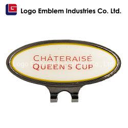 Campo de Golfe epóxi personalizado Hat Clip com magnético do marcador de uma bola de golfe