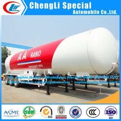 3axles 58.5m3の販売のためのアフリカによって使用されるLPGタンクトレーラーのプロパンの輸送のトレーラトラックの半トレーラーLPGのトレーラーへの液化石油ガスLPGタンクトレーラーのエクスポート