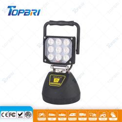 Heavy Duty 27W rechargeable portable COB phare de travail à LED