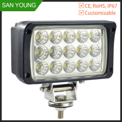 Indicatore luminoso 45W del lavoro del LED indicatore luminoso di funzionamento LED del trattore del camion dell'automobile da 5 pollici