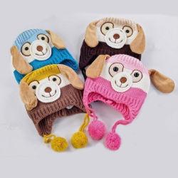 En forma de perro de animal bebe Crochet gorros sombreros Chico Chica niños gorros de invierno para niños