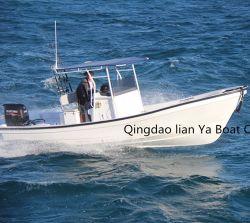Liya 25 футов из стекловолокна в открытом море рыболовного судна Китая Panga лодки