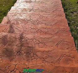 Muffe di gomma del Decorativo-Roccia-per-Giardino del bollo del pavimento dei lastricatori concreti delle muffe
