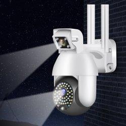 Deux modes de prise en charge audio sans fil Onvif fixer et de la surveillance du mouvement de la surveillance de sécurité WiFi 1080P double lentille de caméra IP WiFi CCTV