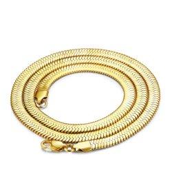 Street jóias de ouro de Aço Inoxidável Bracelete em ziguezague Colar de camadas para o Hip Hop homens Lady jóia 14K 18K